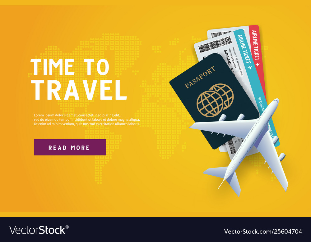 Time to travel vacation trip offer concept