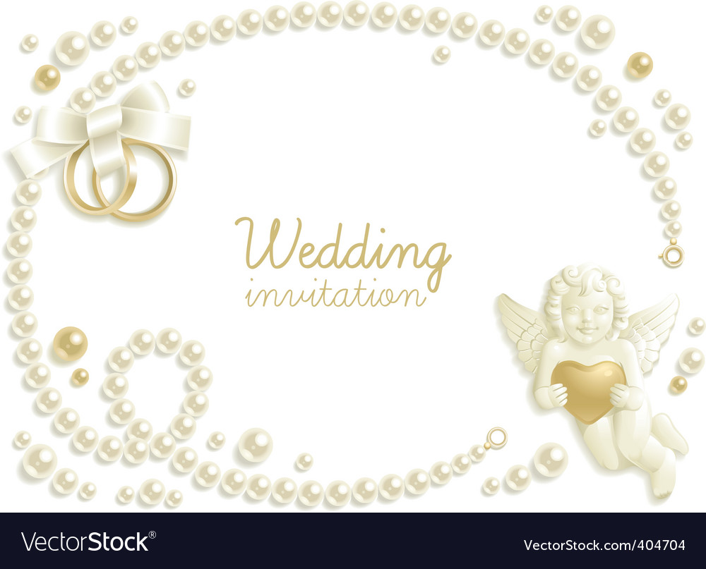 Wedding jewel vector image