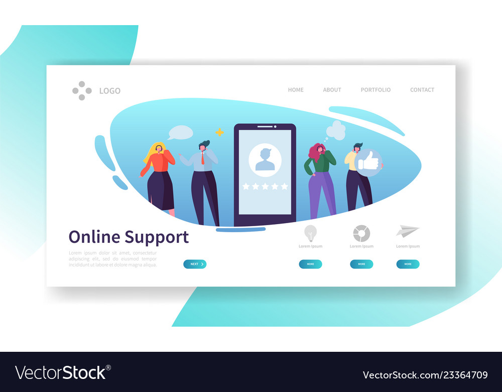 Customer support internet service landing page