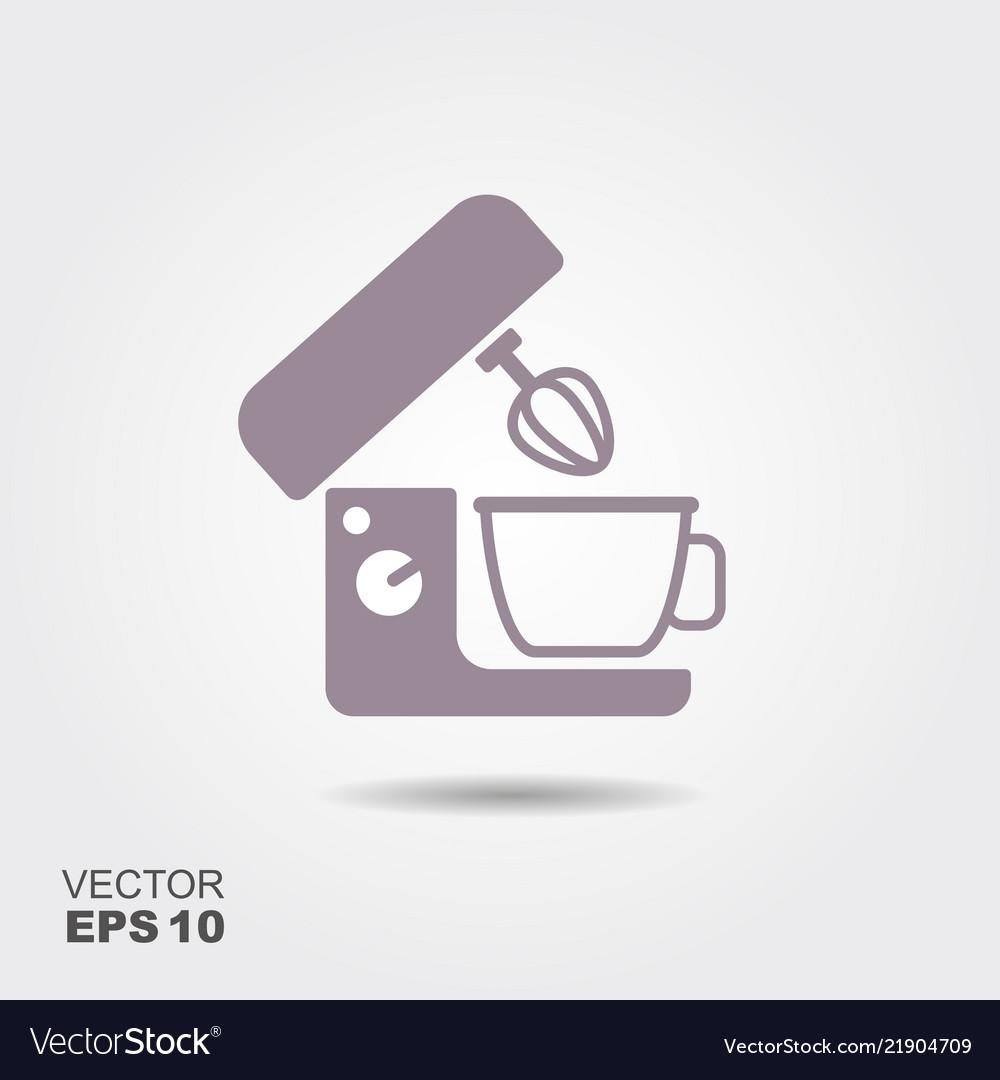 Kitchen Mixer Flat Icon Of Kitchen Appliances Vector Image