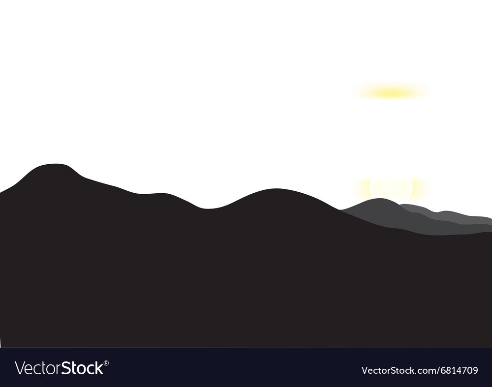 Landscape with sunset at mountain range