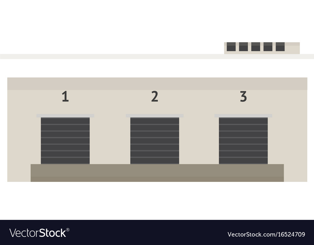Load Doors Of Warehouse Vector Image