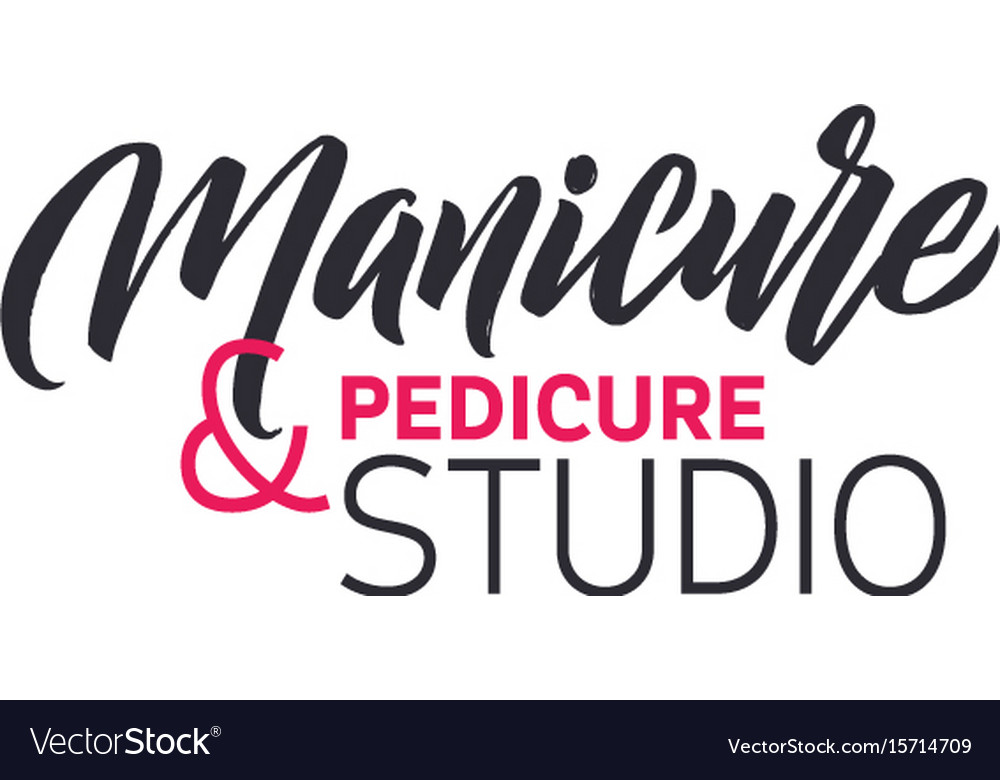 Manicure studio nail master logo beauty Royalty Free Vector
