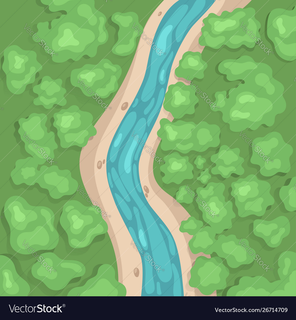 river top view simple graphics royalty free vector image vectorstock