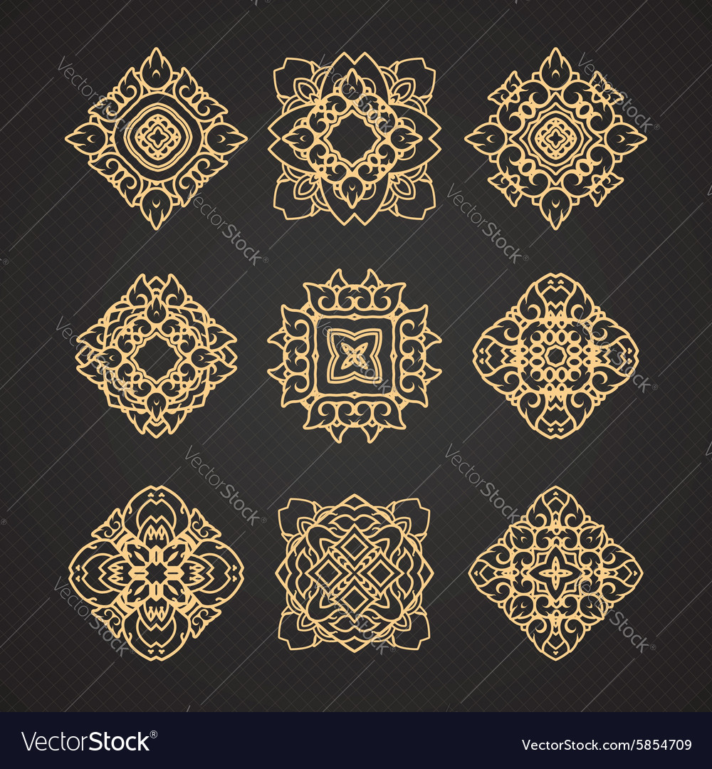 Set of thai art design