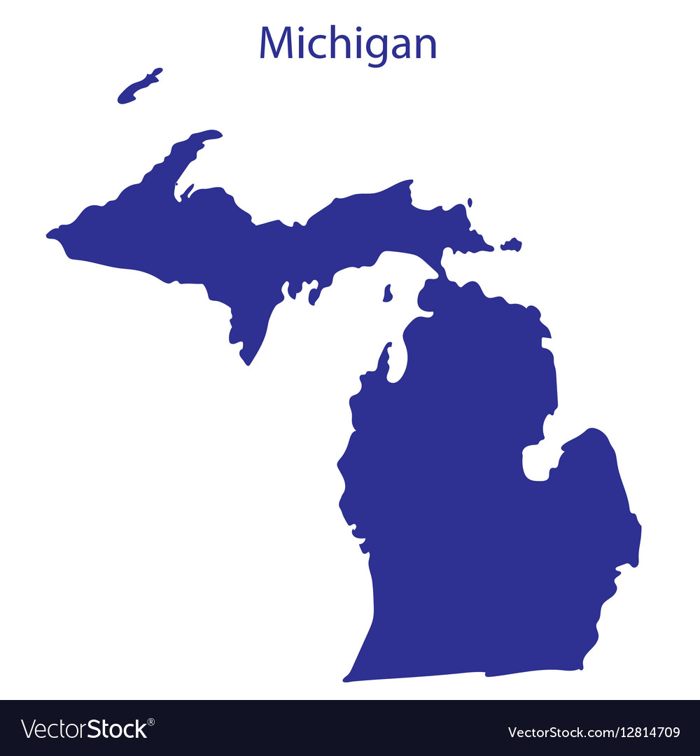 United States Michigan Royalty Free Vector Image