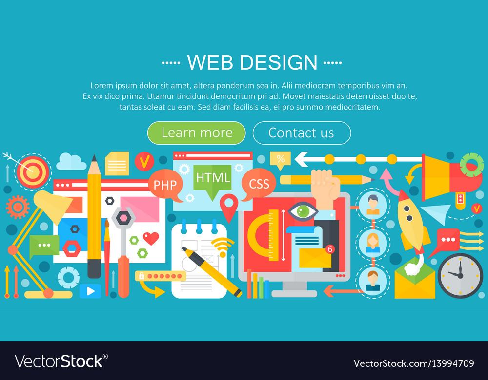 Web design flat concept programming apps