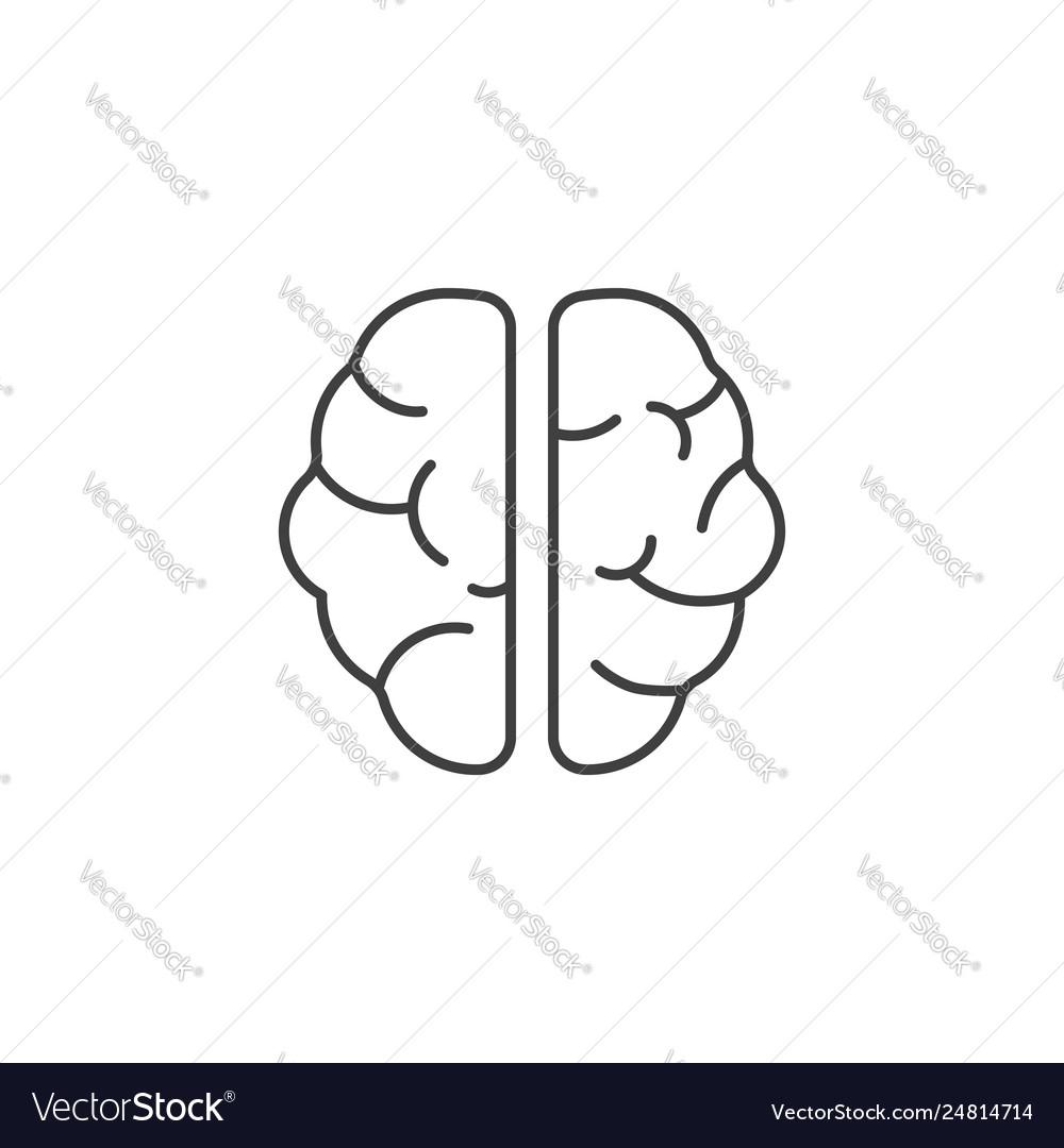 Brain line icons