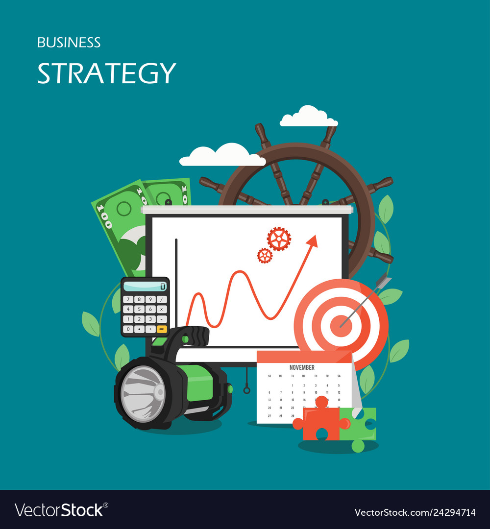 Business strategy flat style design