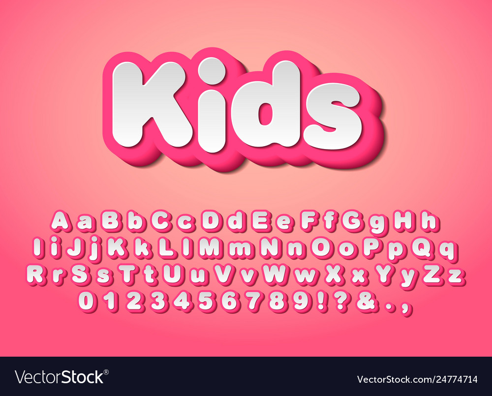 Cute pink letters