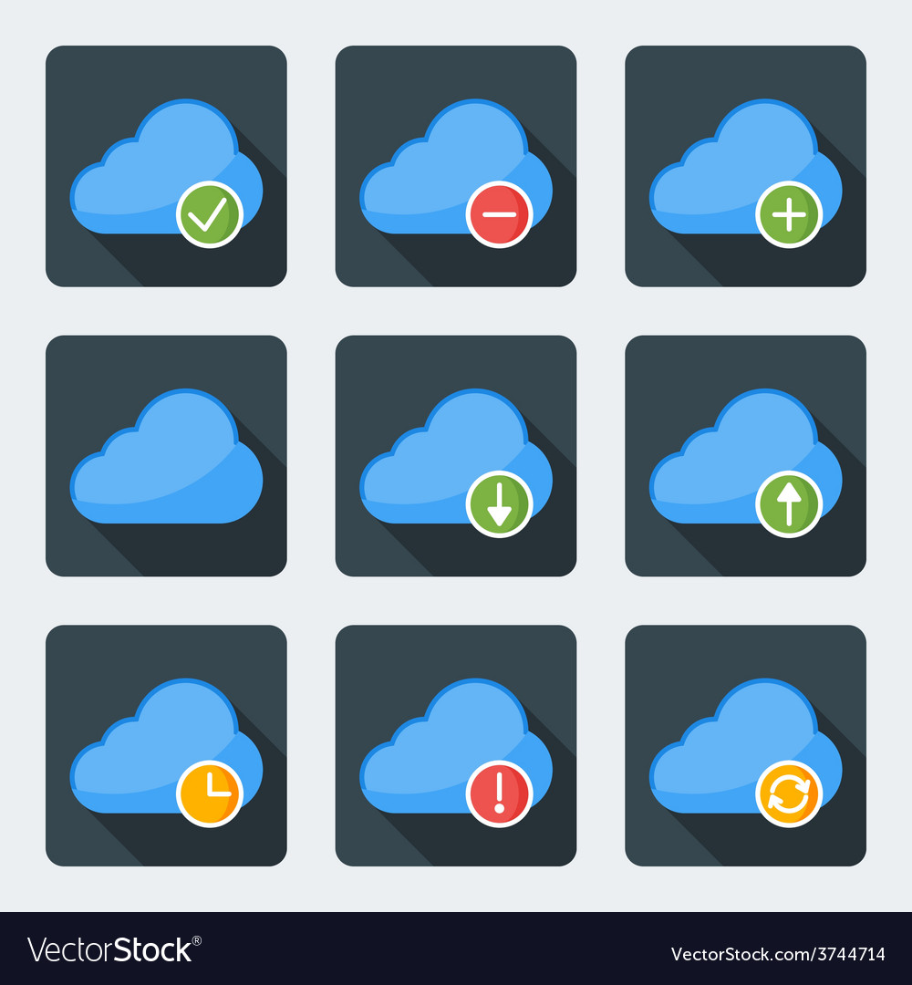 Flat style icon set for web and mobile application