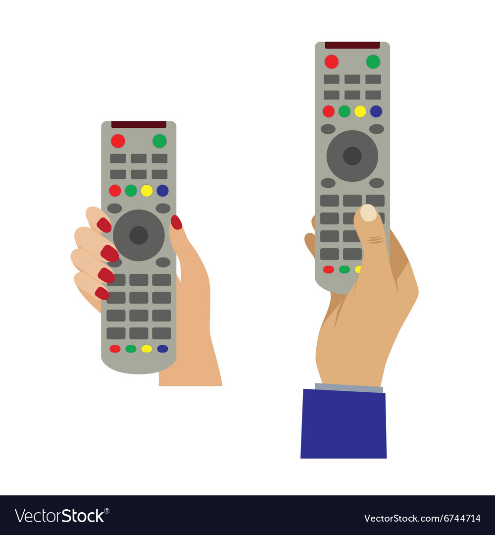 Hand with a remote control