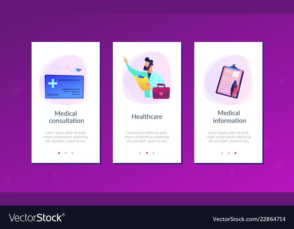 Healthcare smart card app interface template