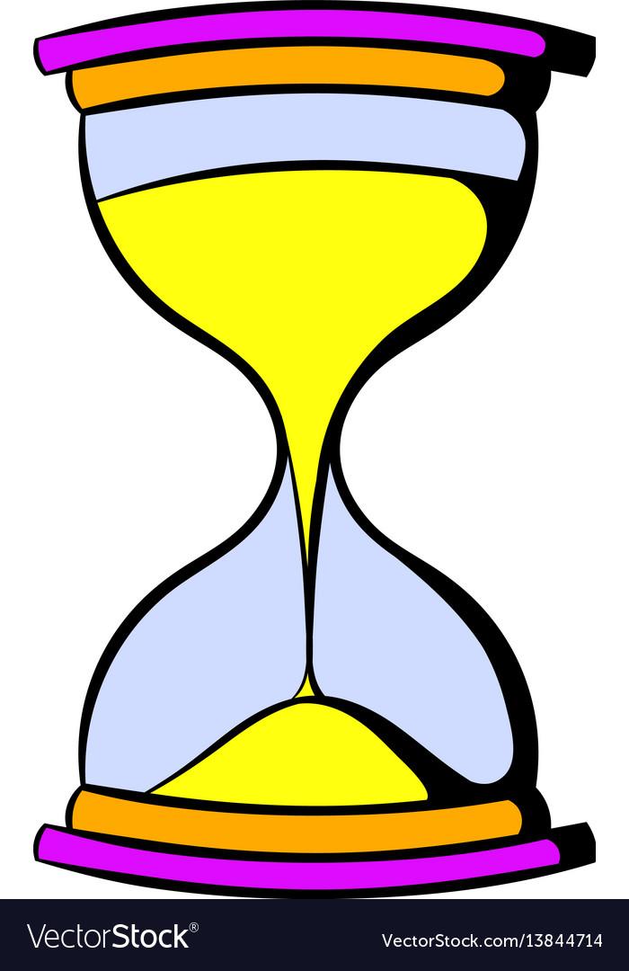 Hourglass icon cartoon