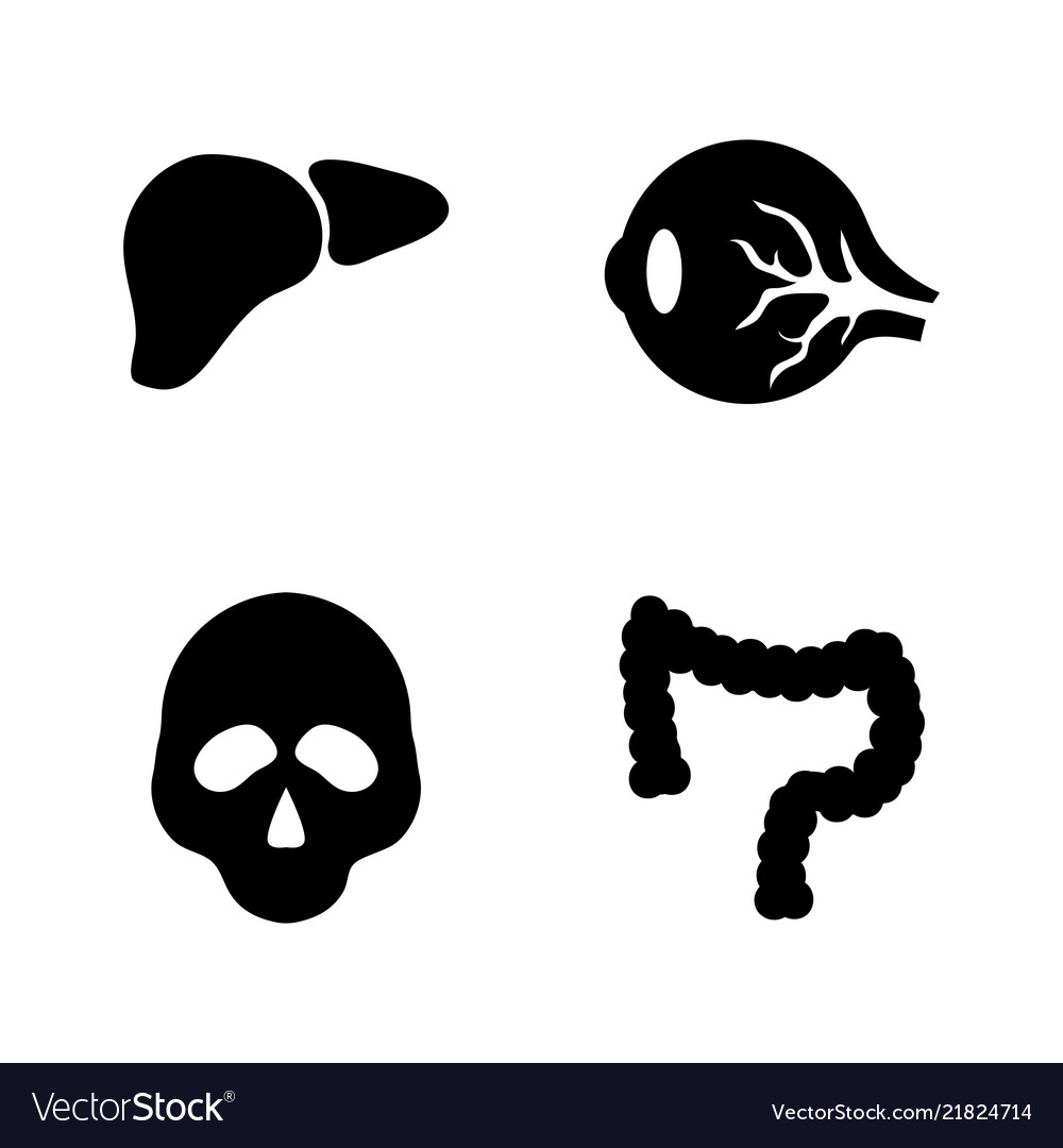 Human internal organs simple related icons