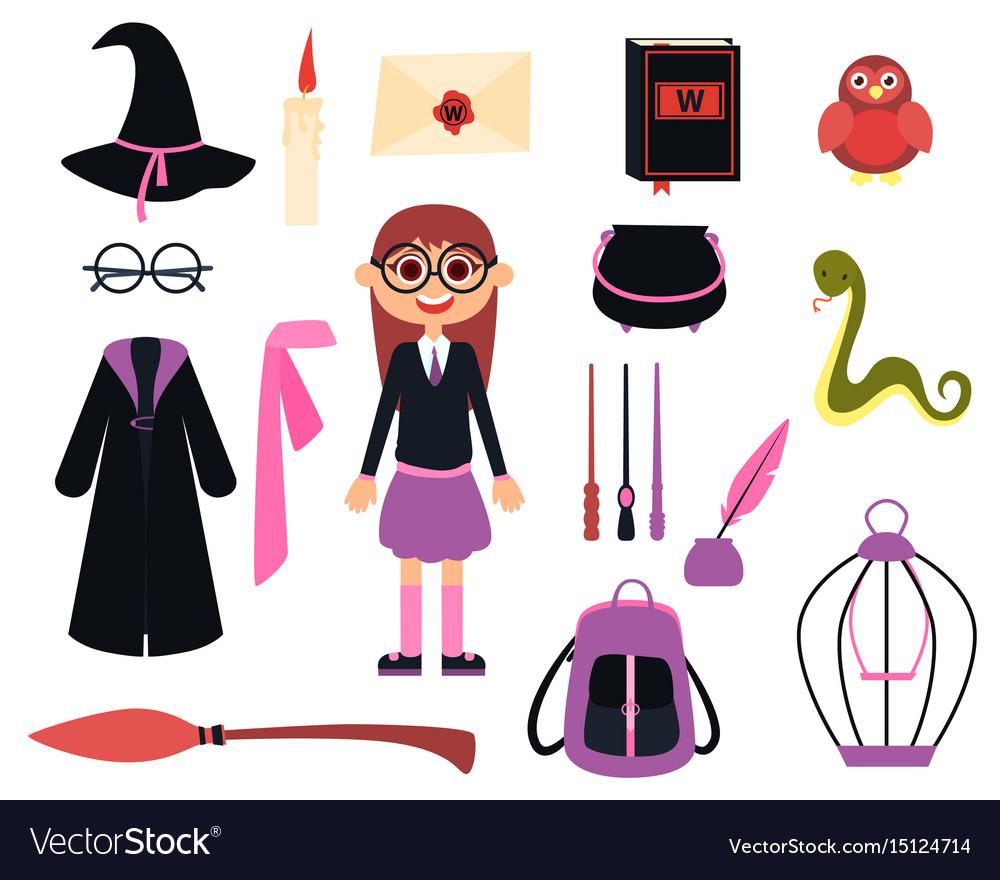 Little girl wizard