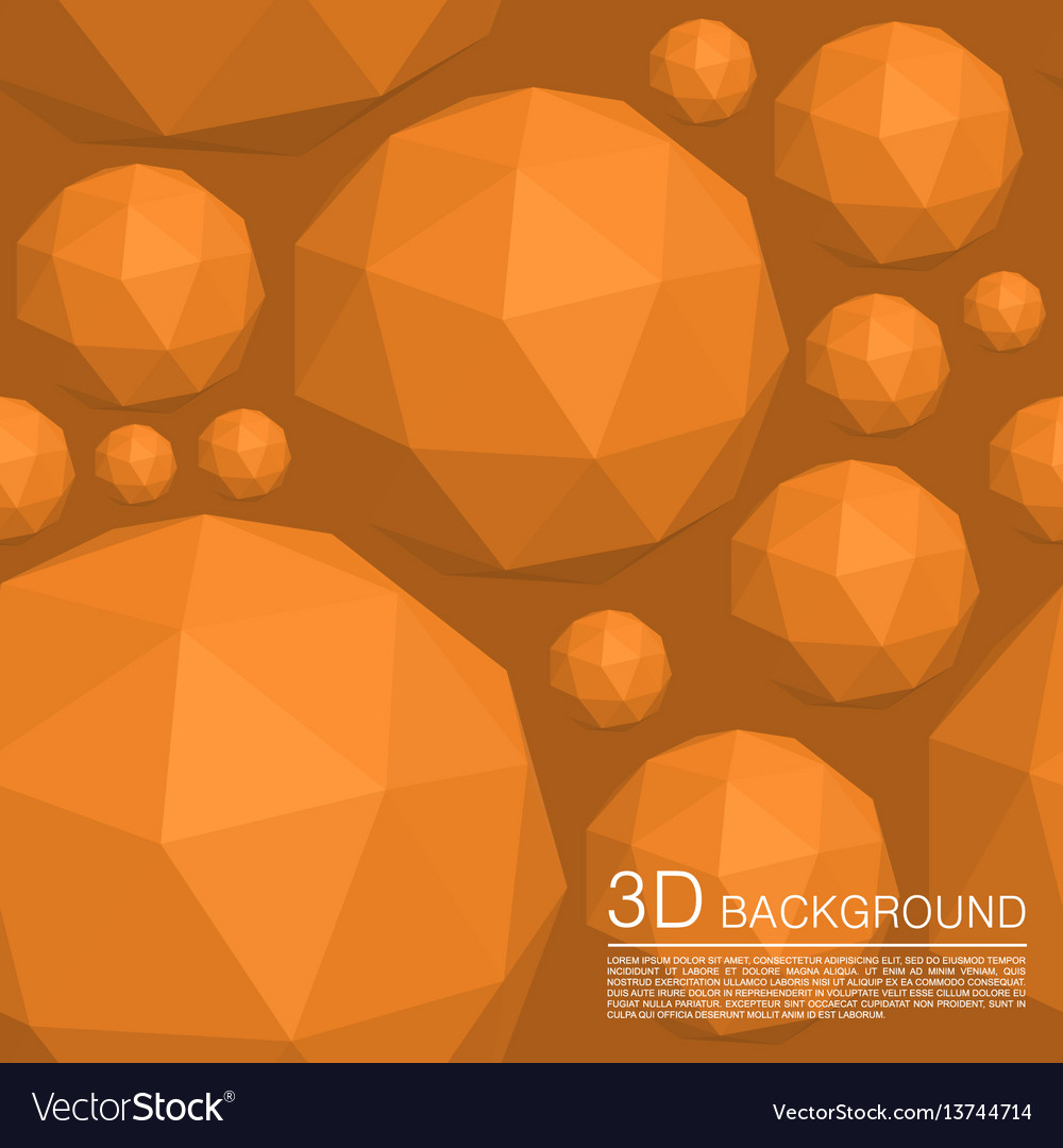 Seamless 3d balls polygons