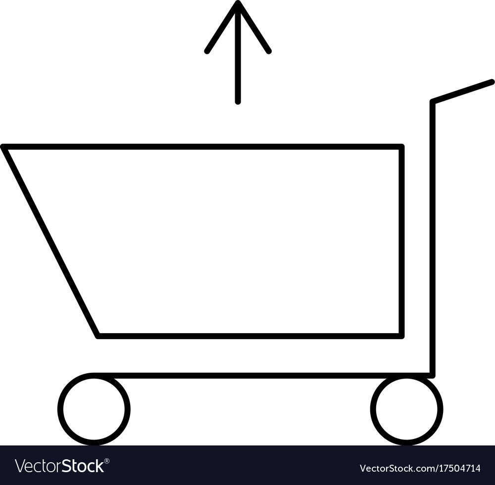 Shopping caddie out vector image