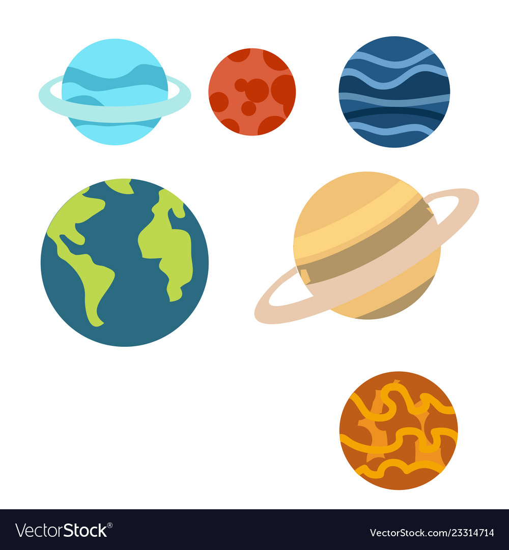 Planet space. Planets cartoon or clipart
