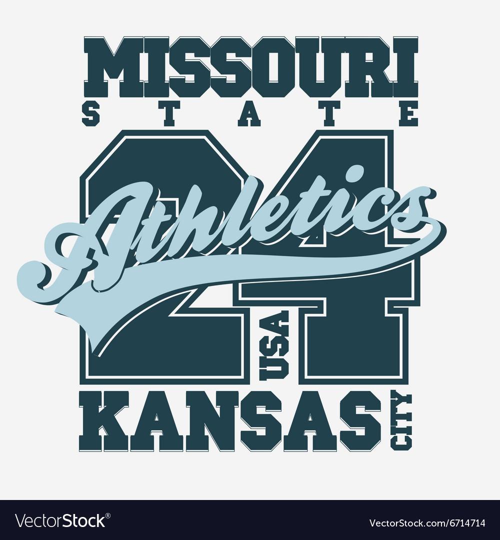 Sport T Shirt Design Kansas City Royalty Free Vector Image
