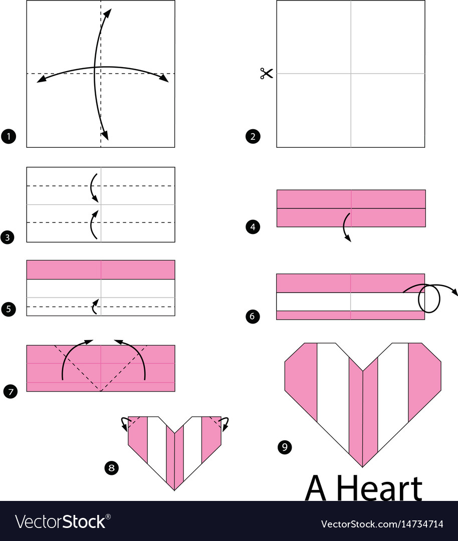 Easy Origami Heart Folding Instructions - How to Make an easy ... | 1080x914