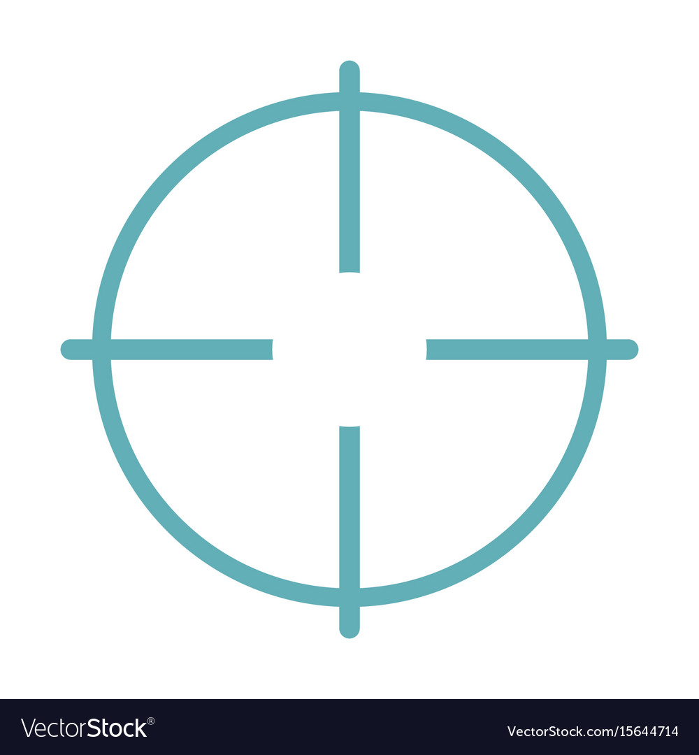 Target aim flat line icon isolated on white vector image