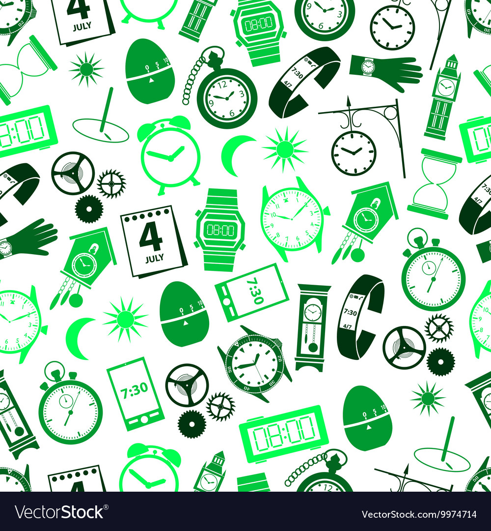 Time theme modern simple icons seamless color