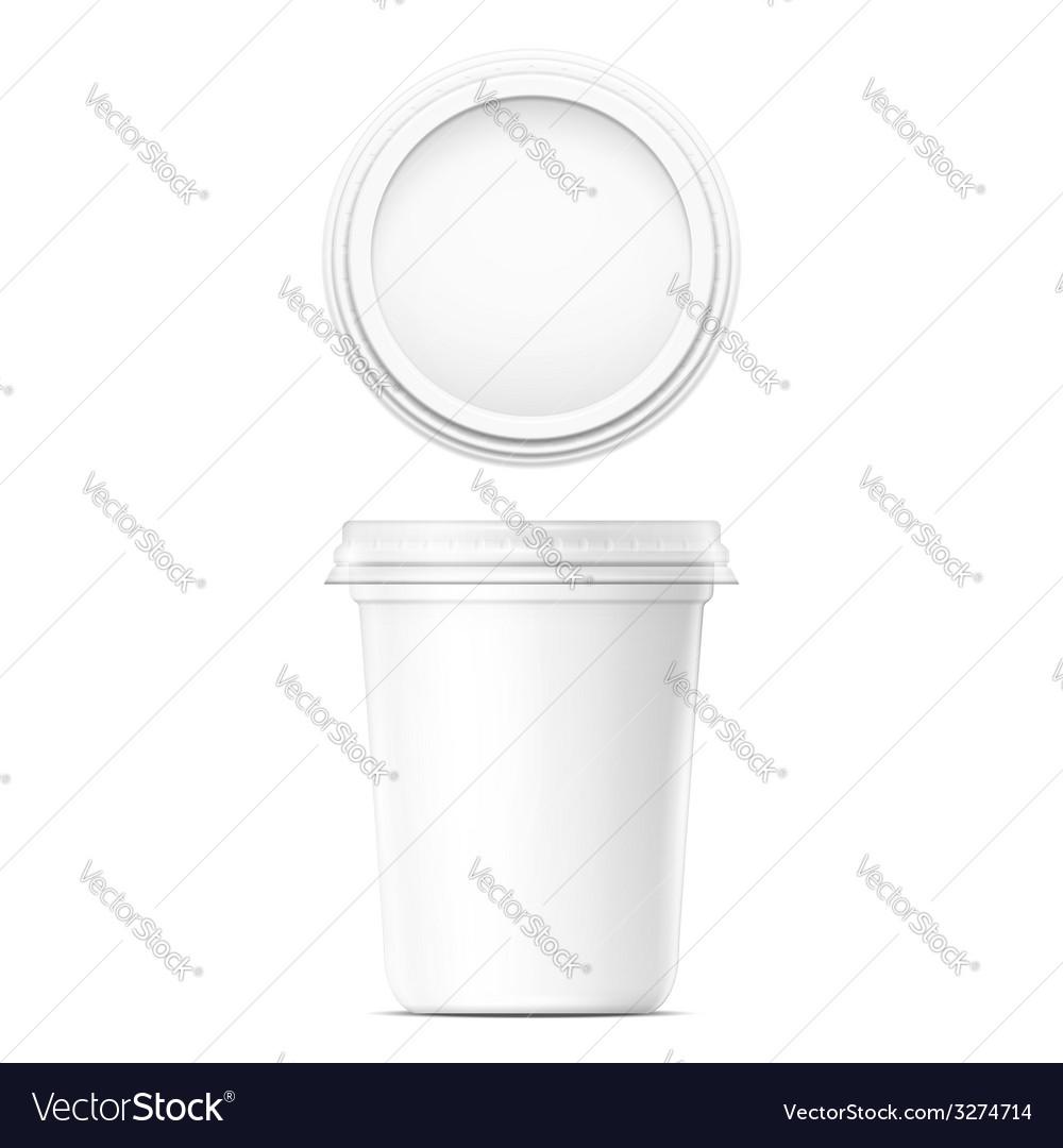 White cream pot template vector image