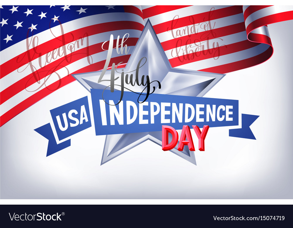 4th july usa independence day banner with american