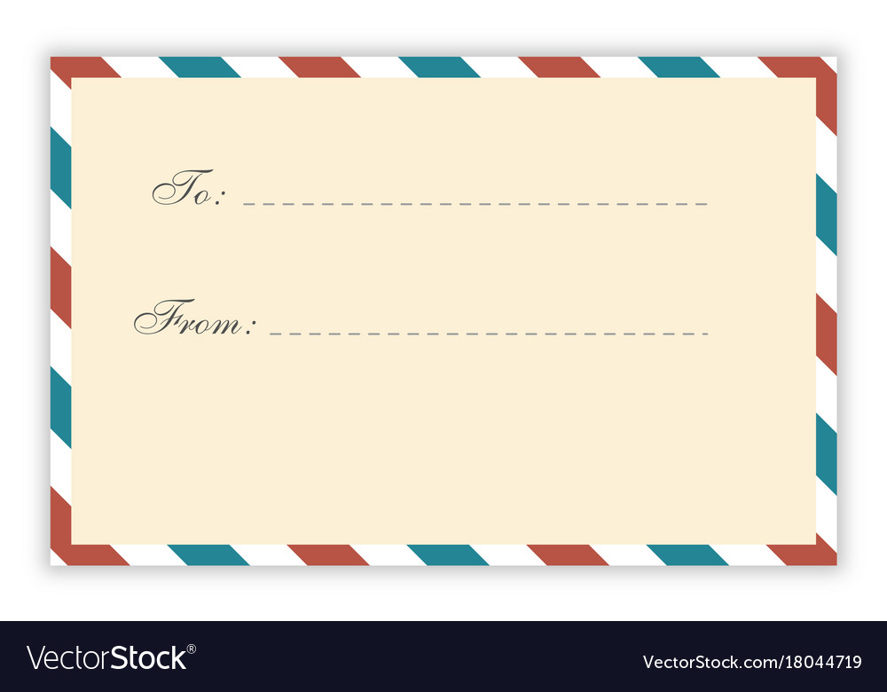 Air Mail Postcard Template Vector Image