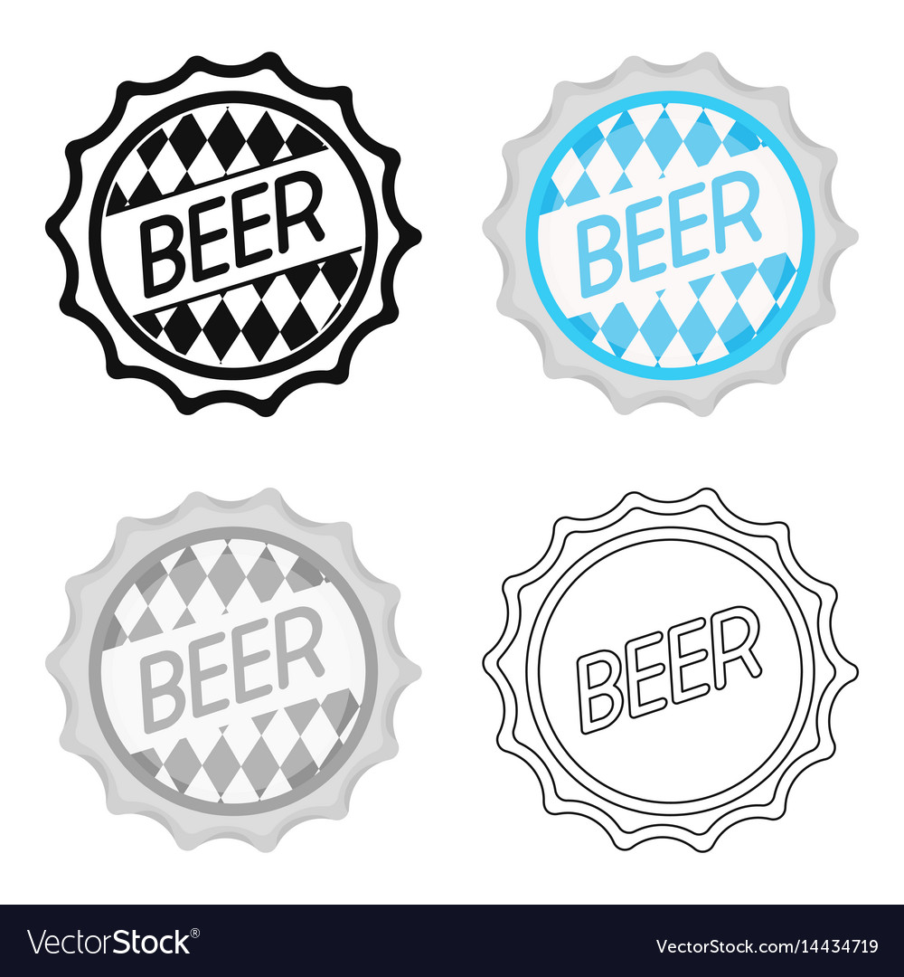 Bottle cap icon in cartoon style isolated on white