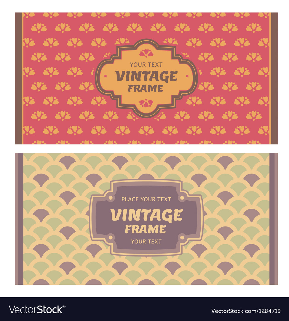 Frames in retro style