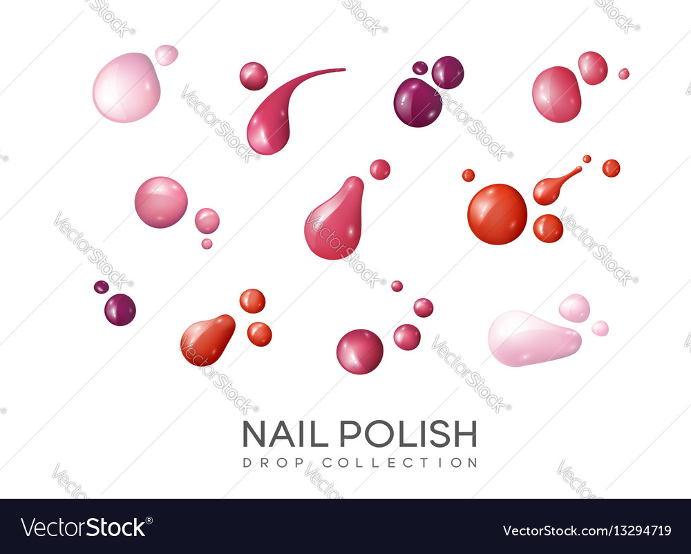 Realistic nail polish set