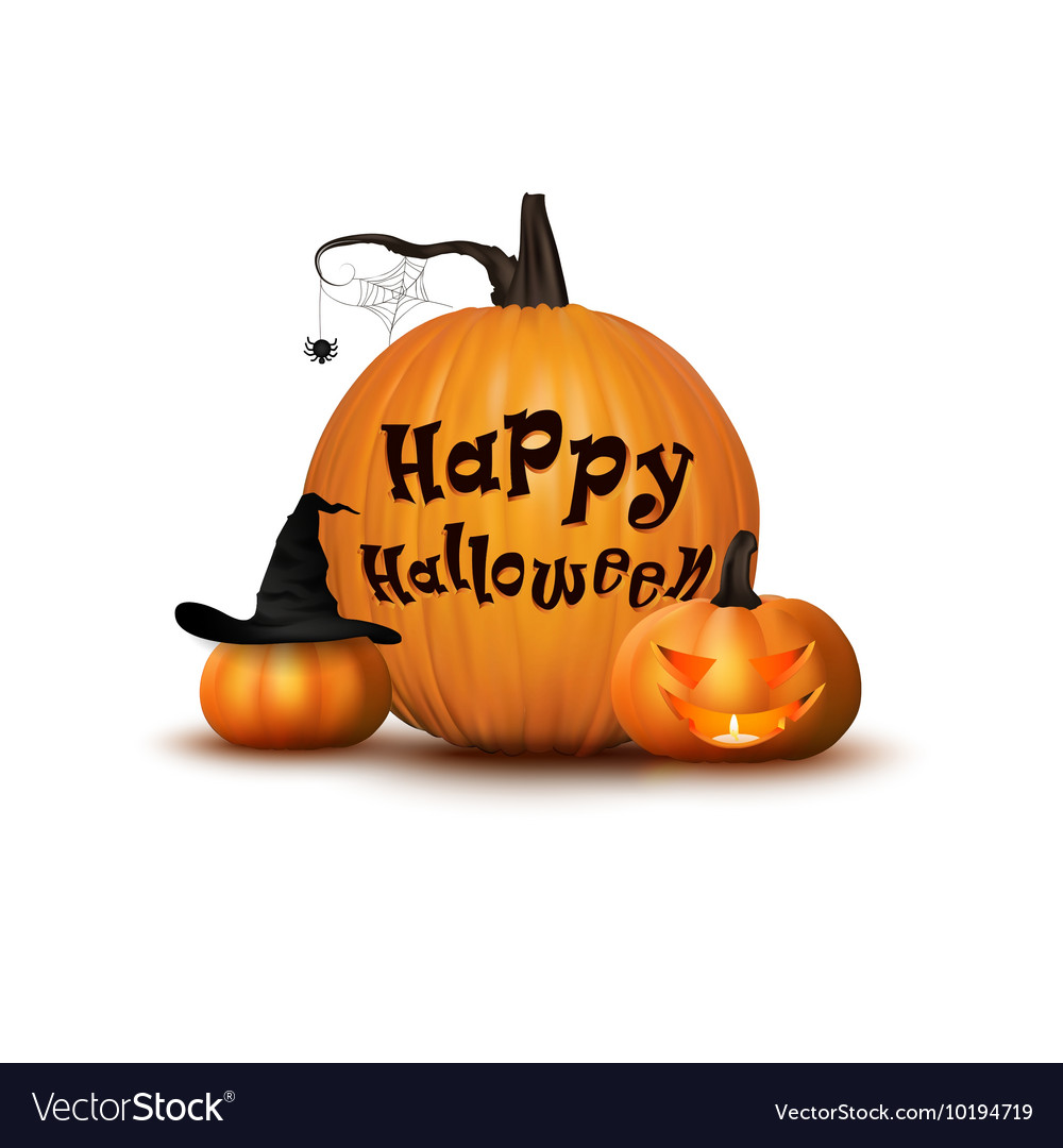 Two pumpkin with hat background