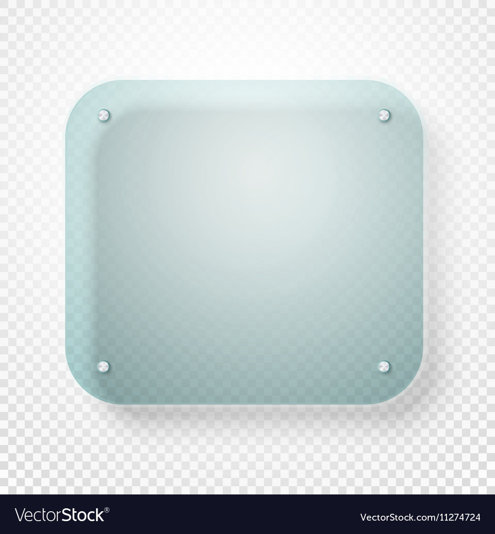Advertising glass board on transparent background vector image