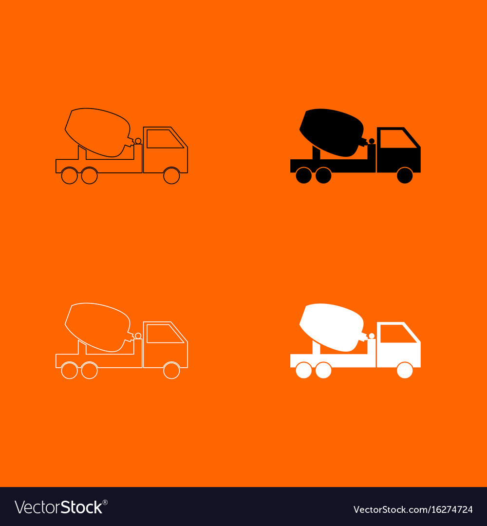 Cement mixers truck icon