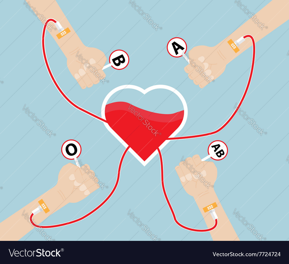 Donate Blood To Heart Shape