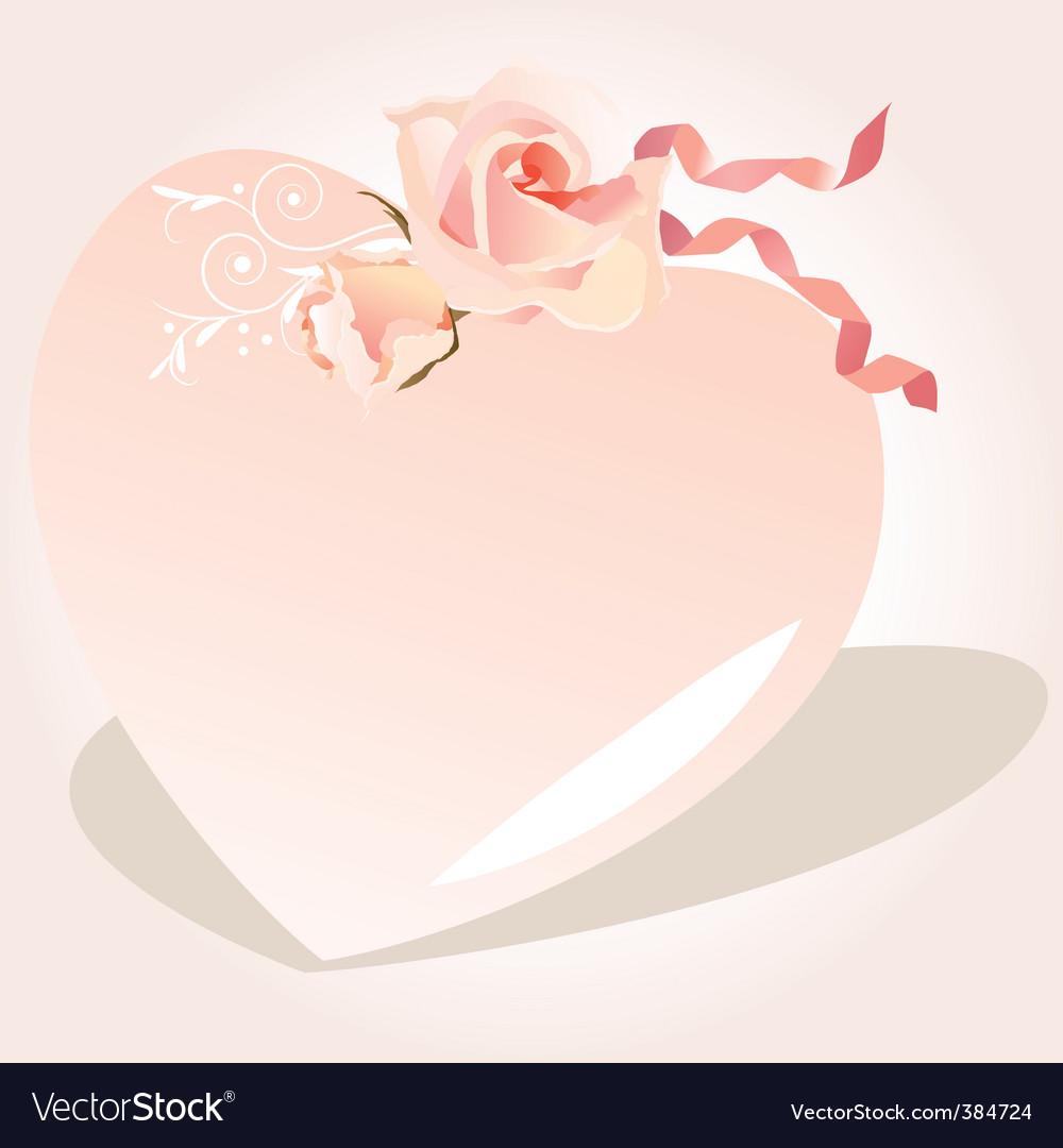 Heart-shaped frame Royalty Free Vector Image - VectorStock