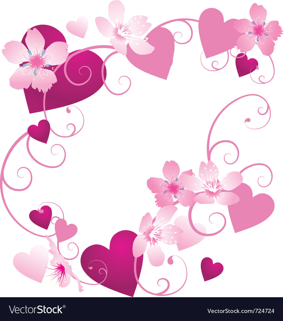 Hearts frame Royalty Free Vector Image - VectorStock