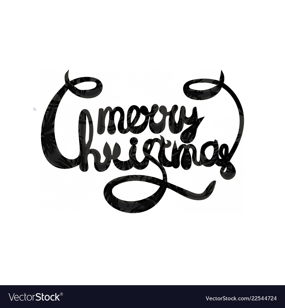 Merry christmas text calligraphic lettering