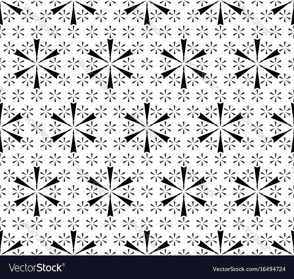 Simple floral geometric seamless pattern