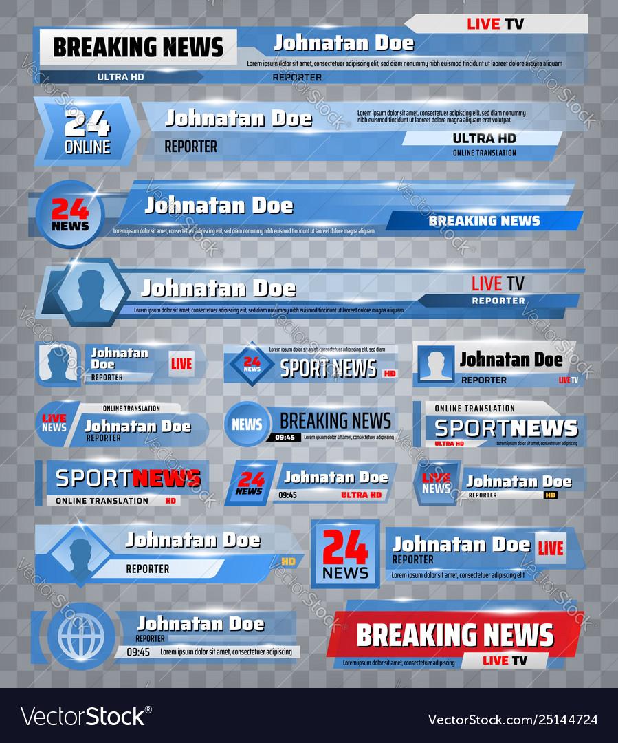 Sport title bars breaking news tv backdrops
