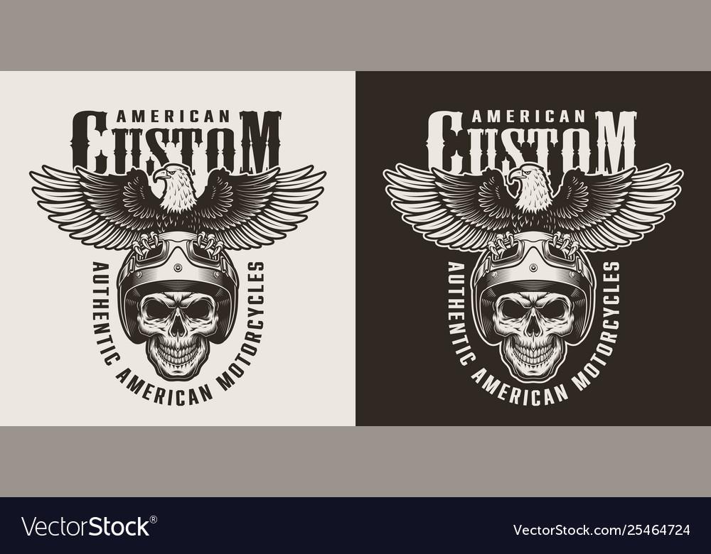 Vintage custom motorcycle badge