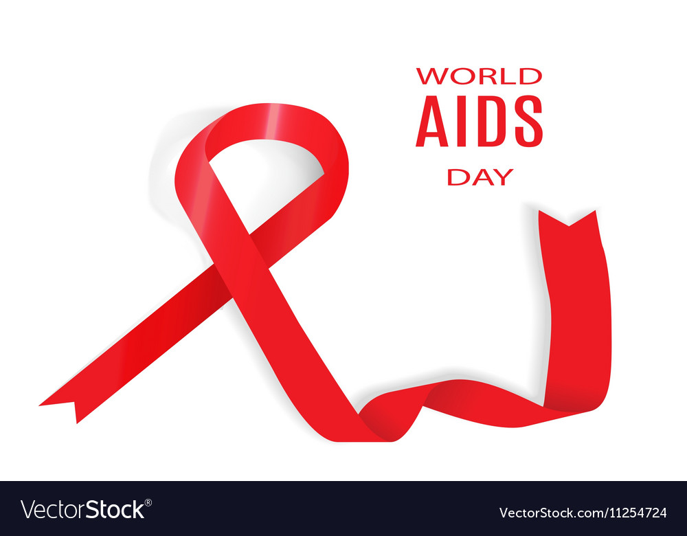 World Aids Day 1 December Royalty Free Vector Image