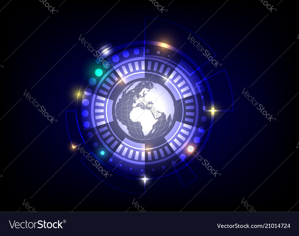 World and circle background