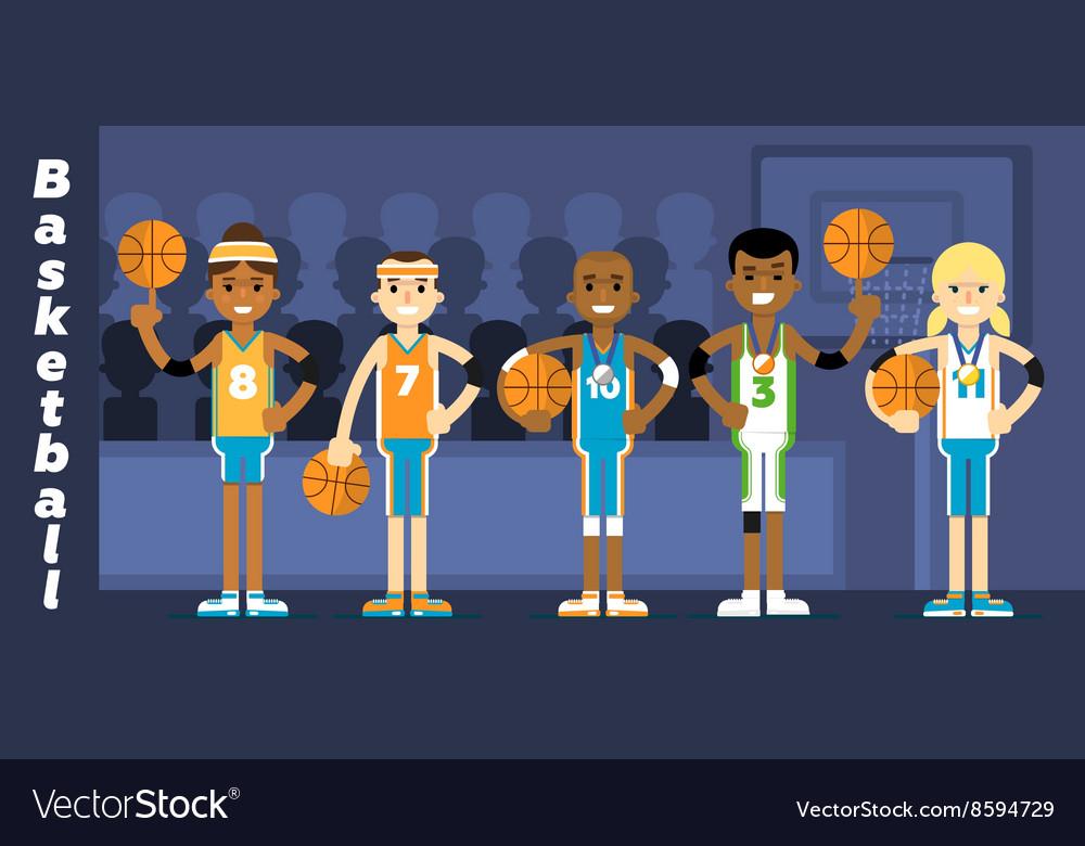 Basketball Team on the podium awarding