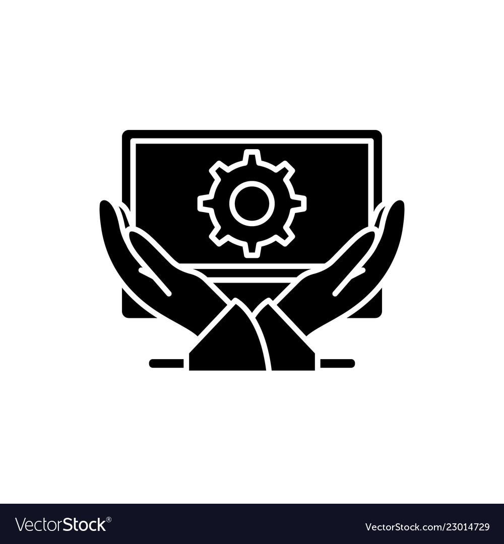 Business development black icon sign on