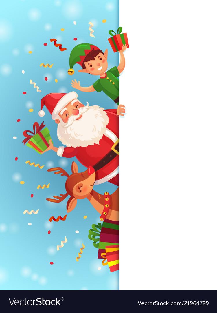Christmas cartoon characters santa claus xmas