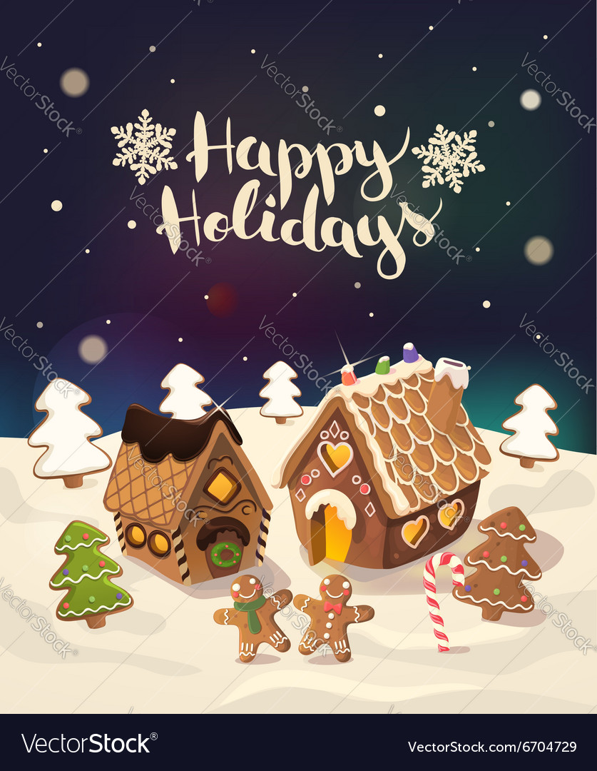 Christmas Gingerbread House Background.Cristmas Background With Gingerbread Houses Candy