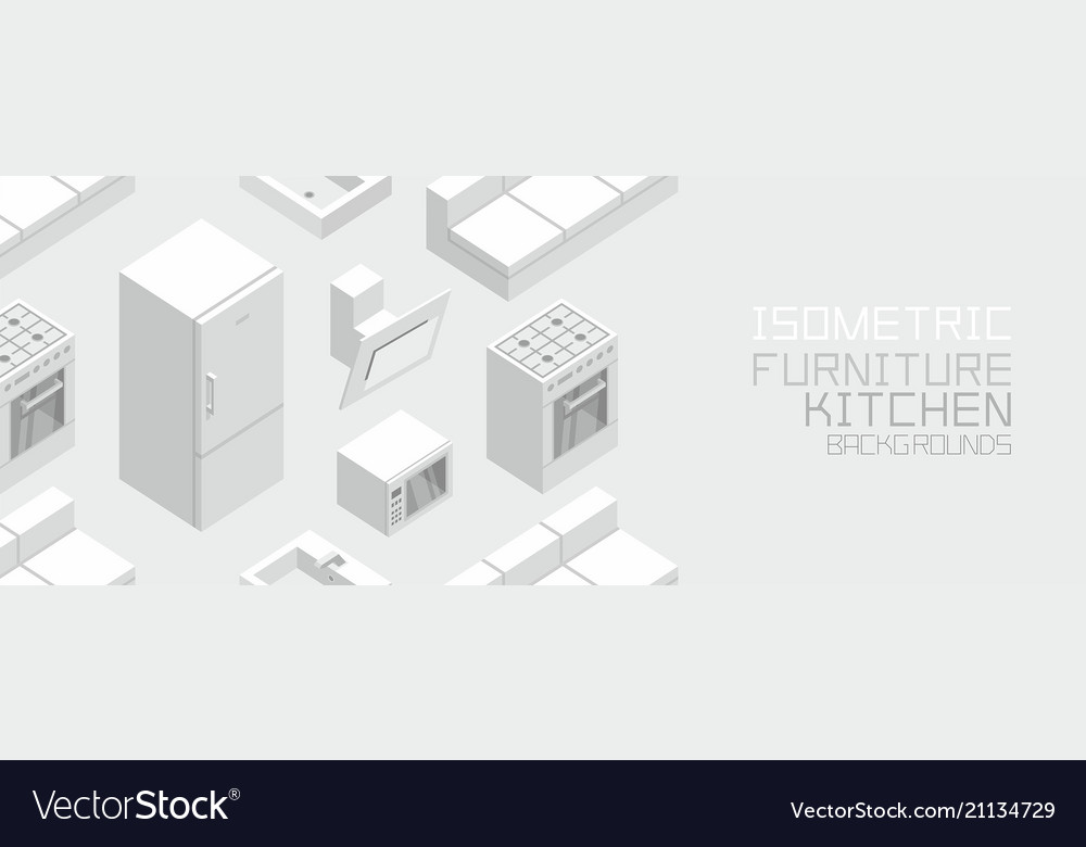 Isometric kitchen furniture